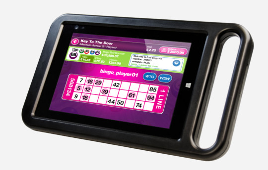 8inch tablet 540x344 - Electronic Bingo Solutions